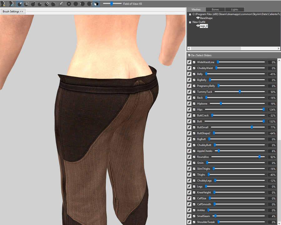 Body Conversions for Skyrim Using BodySlide, Outfit Studio