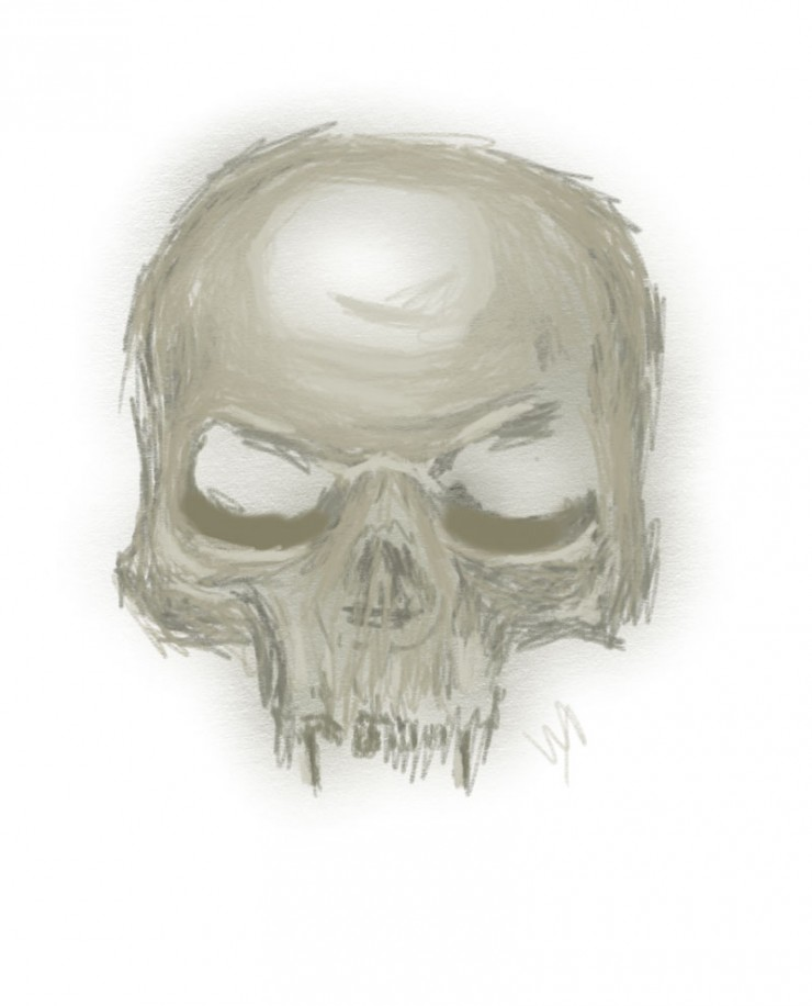 """drawing a skull step 2"""