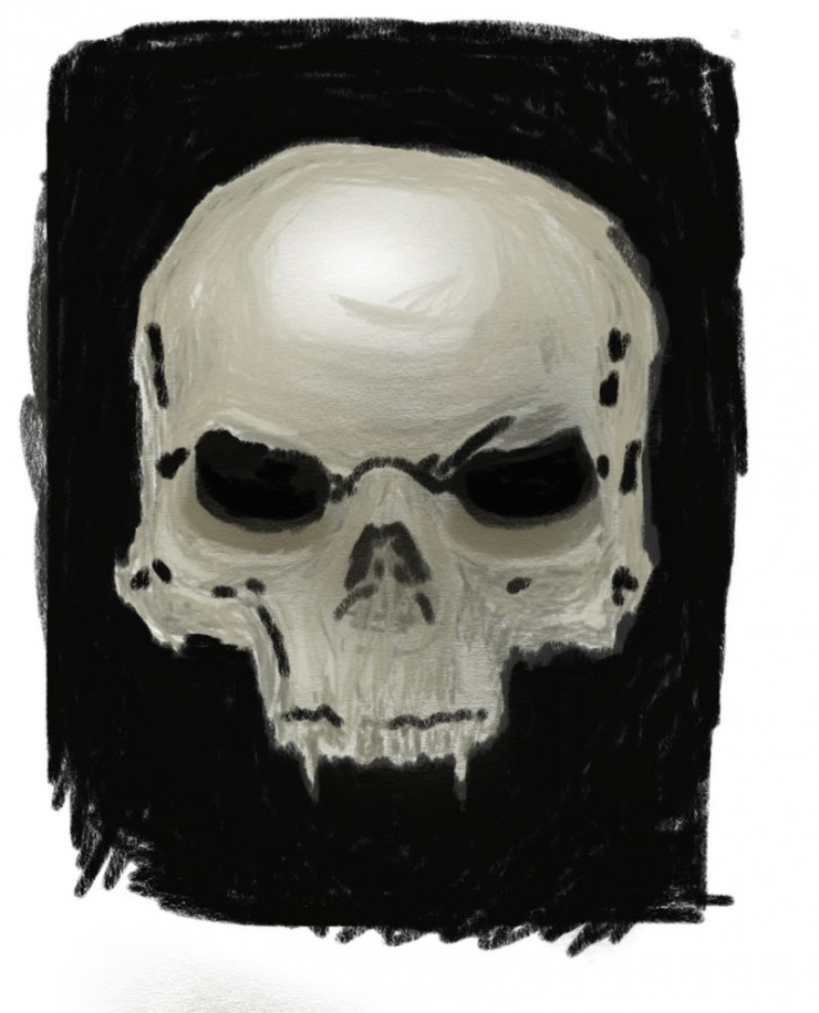 """drawing a skull step 4"""