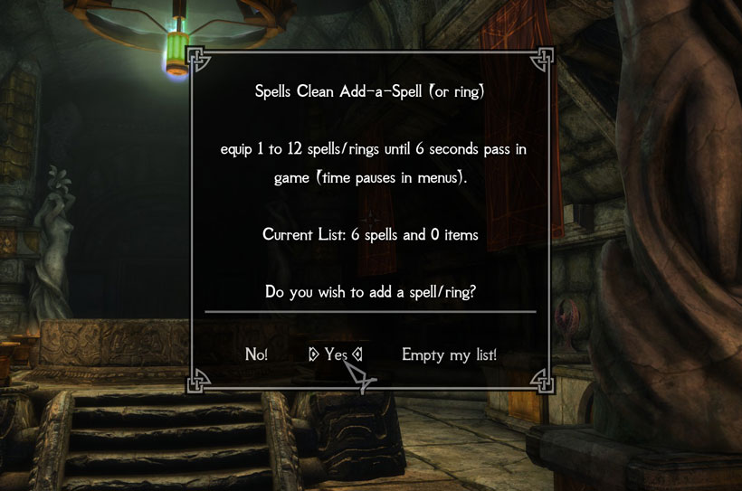 Spells Clean - hide re-spawning configuration spells at